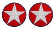 Set of 2 Captain America Shoulder Halloween Avengers costume Patches