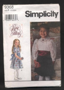 Simplicity Rare Editions Toddler's Formal Fancy Dress Sewing Pattern #9368