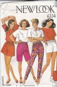 UNCUT & OOP NEW LOOK 6334 MISSES' PANTS & SHORTS SEWING PATTERN SIZE