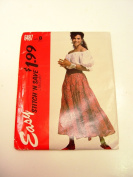 Vintage McCall's 6587 Women's Sewing Pattern Peasant Blouse and Skirt Size Med to Large Uncut
