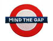 "London Sign Logo ""Mind the Gap"" Iron on Patches"