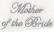 Mother of the Bride Iron On Hot Fix Rhinestone Transfer -- Clear