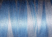 Valdani Multi-Colour Thread ~ Sky Blue ~ Light Blue ~ Variegated Quilting Thread 50wt (40wt U.S.) 100% Cotton~ 575yd ~ Summer Sky ~ M42