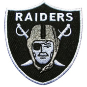 NFL07 - NFL Oakland Raiders Football Logo Iron On Patch Size 2.5x2.5 inches,6.5x6.5 Cm