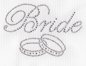 Bride with ring Iron On Hot Fix Rhinestone Transfer -- Clear