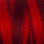 Valdani Multi-Colour Thread ~ Deep Red ~ Burgandy ~ Variegated Quilting Thread 50wt (40wt U.S.) 100% Cotton~ 575yd ~ Vibrant Reds ~ M43