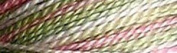 Valdani Multi-Colour Thread ~ Dusty Rose ~ Lime ~ Variegated Quilting Thread 50wt (40wt U.S.) 100% Cotton~ 545 yd ~ Early Spring ~ M63