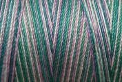 Valdani Multi-Colour Thread ~ Rose ~ Teal ~ Lavendar ~ Green Variegated Quilting Thread 50wt (40wt U.S.) 100% Cotton~ 575yd ~ Treasures ~ M21