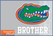 Florida Gators BROTHER w/ GATOR HEAD LOGO #2 Vinyl Decal Car Truck Window UF Mom Sticker
