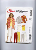 McCall's Patterns M5300. Easy stitch 'n save, Misses/Miss Petite Shirt-Jacket, Top & Pants in two lengths