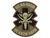"""Mil-Spec Monkey """"Do No Harm - Pirate hook and loop Patch - Forest"""