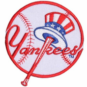 MLB09 - MLB BASEBALL NEW YORK YANKEES IRON PATCH Size 3x3.5 Inches,7.5x8.5 Cm