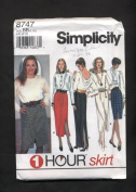 Simplicity One Hour Long or Short Skirt Sewing Pattern #8747