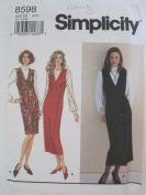 Simplicity Pattern 8598 Misses' Jumper and Blouse Sizes 6-10