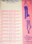 Stretch & Sew 707 Ladies Paris Pleated Pants Sewing Pattern Hip Size 32-34-36-38-40-42-44 Vintage 1970s