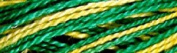 Valdani Multi-Colour Thread ~ Bright Lemon ~ Bright Green ~ Variegated Quilting Thread 50wt (40wt U.S.) 100% Cotton~ 545 yd ~ Lemon Tree ~ M55