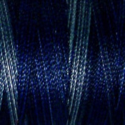 Valdani Multi-Colour Thread ~ Navy Blue ~ Blue ~ Grey Blue Variegated Quilting Thread 50wt (40wt U.S.) 100% Cotton~ 545yd ~ Withered Blue ~ P7