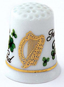 Irish Harp and Shamrock Collectors Thimble