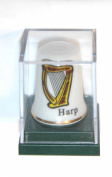 Irish Harp Collectors Thimble Boxed