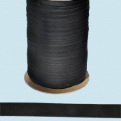 Bias Tape ~ 1.3cm Wide Double-fold Bias Tape ~ Black ~ Poly Cotton