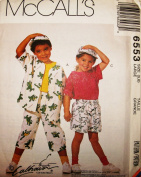 McCall's Sewing Pattern 6553 ~ Children's Shirt, T-Shirt, Shorts, Duffle Bag, & Hat