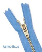 SALE 23cm Brass Pants Zipper YKK#4.5 Assortment Colour Black, Brown, Lite Beige, Beige, Lite Blue, Astro Blue, Navy, Lite Grey