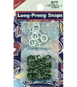 Snap Source Open Long-Prong Snaps Size 16 10/Pkg-Silver