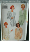 MISSES MISSES PETITE JACKET SIZES 12-14-16 BUTTERICK FAST & EASY PATTERN 4210 RATED VERY EASY