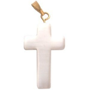 Eilat Stone rosary crucifix (2cm ) - Milky White