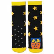 Tubular Novelty Socks-Owl -Black W/Yellow Stars
