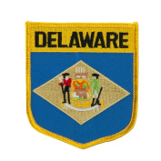 Eastern State Flag Embroidered Patch Shield - Delaware W03S15A