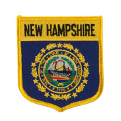 Eastern State Flag Embroidered Patch Shield - New Hampshire W03S15A