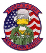 PENSACOLA SAR ALL WEATHER RESCUE 13cm MILITARY PATCH