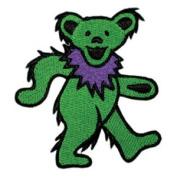 Grateful Dead Garcia Patch - 8.9cm Green Dancing Bear
