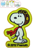Yellow Snoopy Flying Ace Iron On Patch - Peanuts Gang Iron On Patches