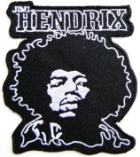 7.6cm x 8.3cm JIMI HENDRIX Music Brand Logo Jacket T shirt Patch Sew Iron on Embroidered music patch by Tourlesjours