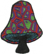 Black Stem Mushroom - Mushrooms - Iron on or Sew on Embroidered Patch