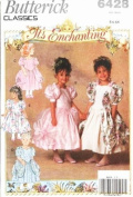 BUTTERICK 6428 It's Enchanting Fancy Dress Sewing Pattern Little Girl Size 5, 6, 6X