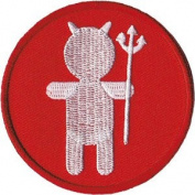 Devil Silhouette - Angels & Devils - Iron on or Sew on Embroidered Patch