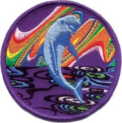 Dolphin - Jumping Porpoise - Iron on or Sew on Embroidered Patch