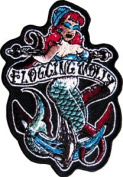 Flogging Molly - Mermaid - Iron on or Sew on Embroidered Patch