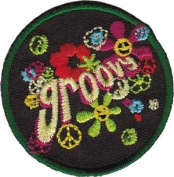Groovy 3.8cm - 60's Retro - Iron on or Sew on Embroidered Patch