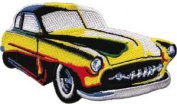 Rainbow Car - Car Culture - Iron on or Sew on Embroidered Patch