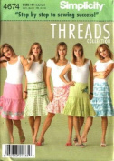Simplicity Misses' Skirts Sewing Pattern 4674 Size HH