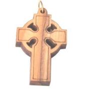 Olive wood Celtic Cross Laser Pendant
