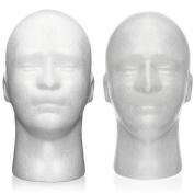 Male Polystyrene Styrofoam Foam Mannequin Manikin Medel Head Stand Display