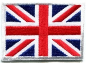 Union Jack British Flag United Kingdom Britain Applique Iron-on Patch Med S-102 Cute Gift to Your Cloth.
