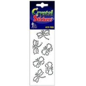 Mark Richards Elements Crystal Stickers 1917 Self-Adhesive 6-Piece Rhinestones Crystal Stickers, Butterflies, Clear