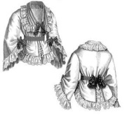 1870 Embroidered Swiss Muslin Jacket