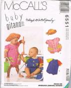 McCall's Baby Gitano Rompers 6551